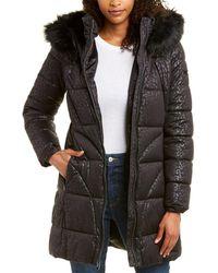 Via Spiga Leopard Coat - Black