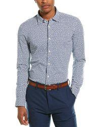 BOSS by HUGO BOSS Ronni Slim Fit Woven Shirt - Blue