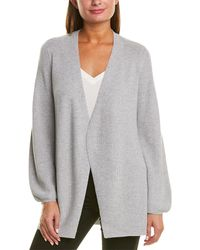 Eileen Fisher Sparkle Wool-blend Cardigan - Gray