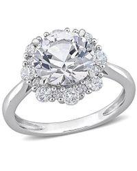 Rina Limor 10k 4.29 Ct. Tw. White Sapphire Ring
