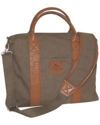 Buxton Expedition Ii Huntington Canvas Laptop Briefcase - Green