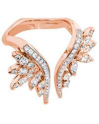 Hearts On Fire 18k Rose Gold 1.32 Ct. Tw. Diamond White Kites Crest Ring - Metallic