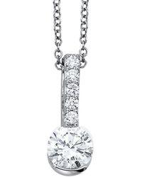 Nephora 18k 0.58 Ct. Tw. Diamond Pendant Necklace - Metallic