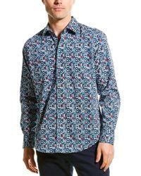 Robert Graham Aspen Woven Shirt - Blue