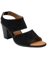 Andre Assous Pipa Suede Sandal - Black