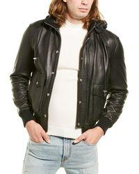IRO Slice Leather Jacket - Black
