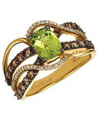 Le Vian - ® Chocolatier® 14k 2.15 Ct. Tw. Diamond & Peridot Ring - Lyst