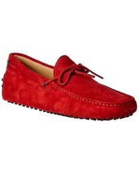 Tod's Gommino Suede Loafer - Red