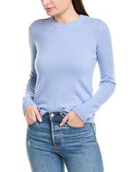 Vince Runner Cashmere Sweater - Blue