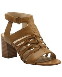 Adrienne Vittadini Pense Leather Sandal - Brown
