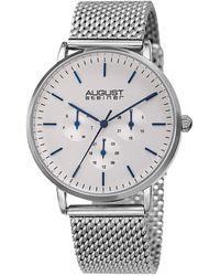 August Steiner - Stainless Steel Mesh Watch - Lyst