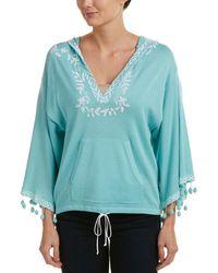 Autumn Cashmere Cotton By Hoodie - Blue