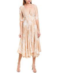 Max & Moi Silk-blend A-line Dress - Natural