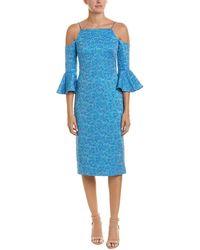 THEIA Sheath Dress - Blue