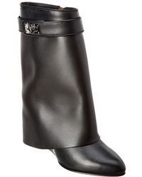Givenchy Shark Lock Leather Ankle Boot - Black
