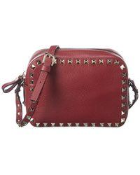 Valentino Garavani - Rockstud Leather Camera Bag - Lyst