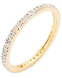 Adornia Fine 14k 0.35 Ct. Tw. Diamond Eternity Ring - Metallic