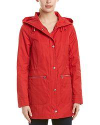 Cole Haan - Hooded Rain Coat - Lyst