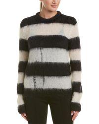 Saint Laurent Mohair-blend Sweater - Black