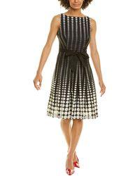 Anne Klein Tie-waist A-line Dress - Black