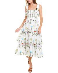 Hutch Peony Midi Dress - White