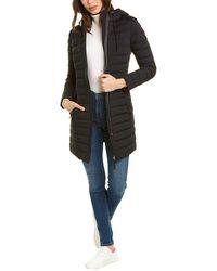 Mackage Calina Leather-trim Down Coat - Black