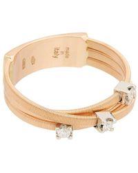 Marco Bicego Goa 18k Rose Gold Diamond Multi-strand Ring - Metallic