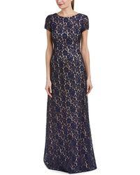 Donna Morgan Alice-capsleeve Dress - Blue