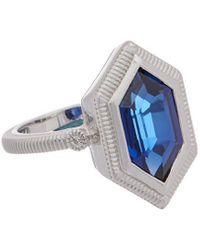 Judith Ripka Martinique Silver 4.02 Ct. Tw. Gemstone Ring - Metallic