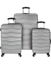 Elite Luggage Omni 3pc Hardside Spinner Luggage Set - Grey