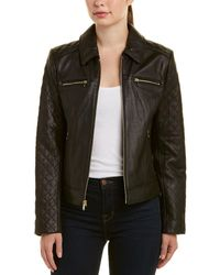 Cole Haan Cole Haan Leather Jacket - Black