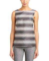 Lafayette 148 New York Josa Silk-blend Blouse - Grey