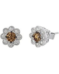Le Vian 14k 0.78 Ct. Tw. Diamond Floral Earrings - Metallic
