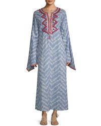Raga Embroidered Maxi Dress - Blue