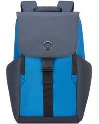 Delsey Securflap 15in Laptop Backpack - Blue