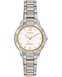 Citizen Women's Stainless Steel Bracelet Diamond Watch - Metallic