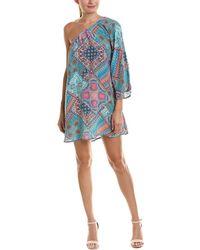 Tolani - One-shoulder Silk Shift Dress - Lyst