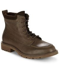 Cole Haan Suede & Leather Lace-up Boot - Brown