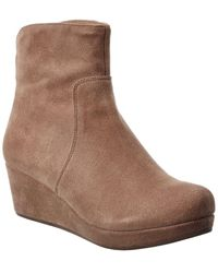 Chocolat Blu Yarden Suede Wedge Bootie - Brown