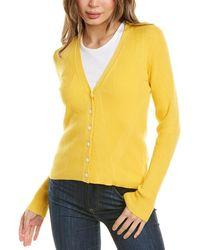 Brooks Brothers V-neck Cardigan - Yellow