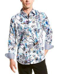 Robert Graham Paden Village Woven Shirt - White
