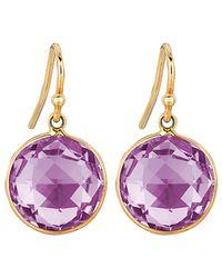 Ariana Rabbani 14k Amethyst Lollipop Drop Earrings - Purple