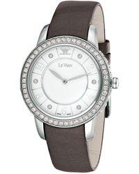Le Vian Leather Diamond Watch - Metallic