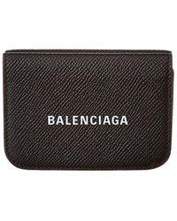 Balenciaga Leather French Purse - Black