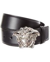 Versace - Palazzo Medusa Buckle Leather Belt - Lyst