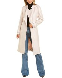 Reiss Isla Drape Front Coat - Pink