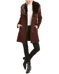 Via Spiga Short Wool-blend Coat - Brown