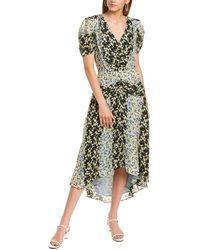 Parker Shelley Silk Maxi Dress - Green
