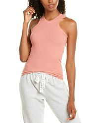 Kendall + Kylie Kendall + Kylie French Terry Rib Tank - Pink