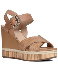 Geox Yulimar Leather Sandal - Brown